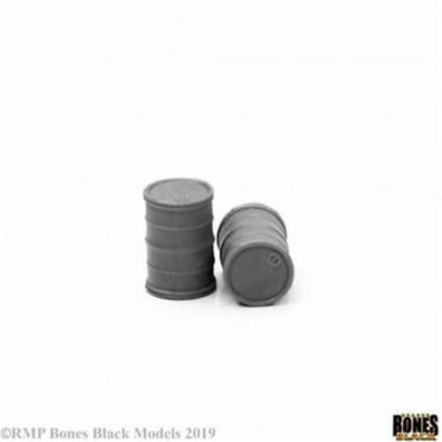 Reaper Miniatures REM49034 Bones Break Modern Barrels Miniatures - Pack of 2 Perspective: front