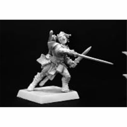 Reaper Miniatures 60001 Pathfinder Series Valeros, Human Fighter Miniature Perspective: front