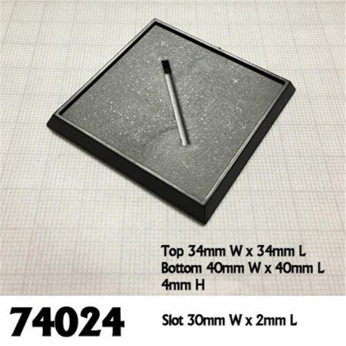 Reaper Miniatures REM74024 40mm Square Slotted Plastic Bases - Set of 6 Perspective: front