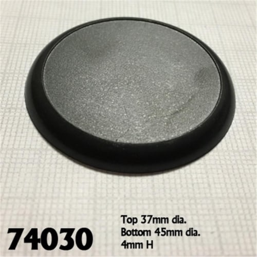 Reaper Miniatures REM74030 45mm Round Lipped Plastic Display Base - Set of 10 Perspective: front