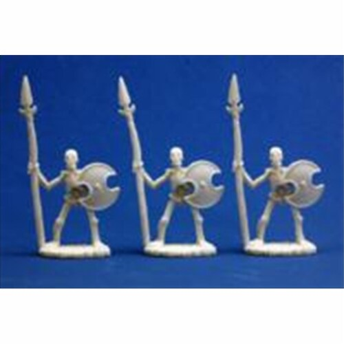Reaper Miniatures 77001 Bones - Skeletal Spearmen Set Of 3 Perspective: front
