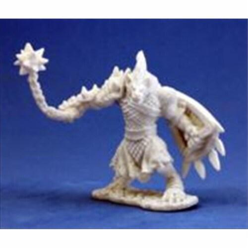 Reaper Miniatures 77012 Bonest50 - Gnoll Warrior Perspective: front