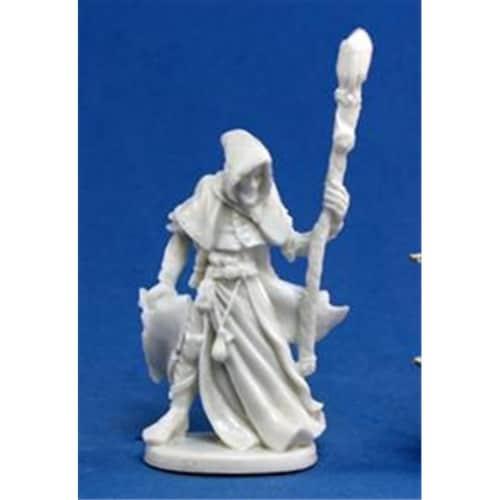 Reaper Miniatures 77040 Bonest50 - Satheras, Male Warlock Perspective: front