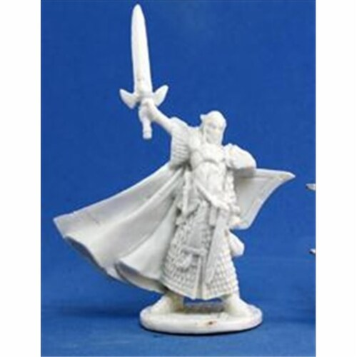 Reaper Miniatures 77044 Bones - Turanil, Male Elf Paladin Perspective: front