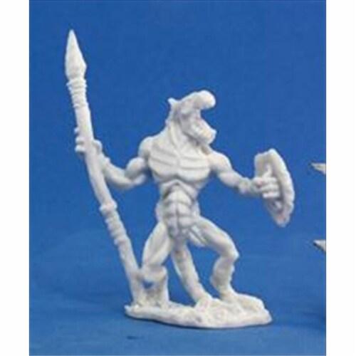 Reaper Miniatures 77050 Bones - Lizardman Soldier Perspective: front