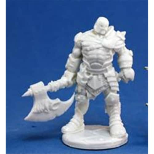 Reaper Miniatures 77055 Bones - Anval Thricedamned, Evil Warrior Perspective: front