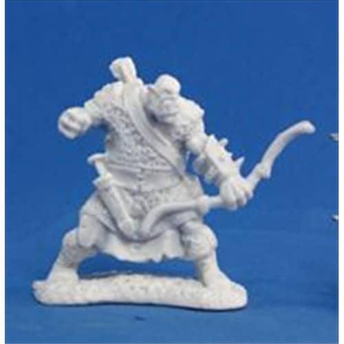Reaper Miniatures 77056 Bones - Orc Sniper Archer Perspective: front