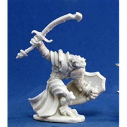 Reaper Miniatures 77060 Bones - Dragonman Warrior Perspective: front