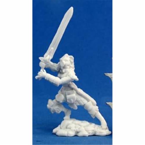 Reaper Miniatures 77062 Bones - Deenah, Female Barbarian Perspective: front