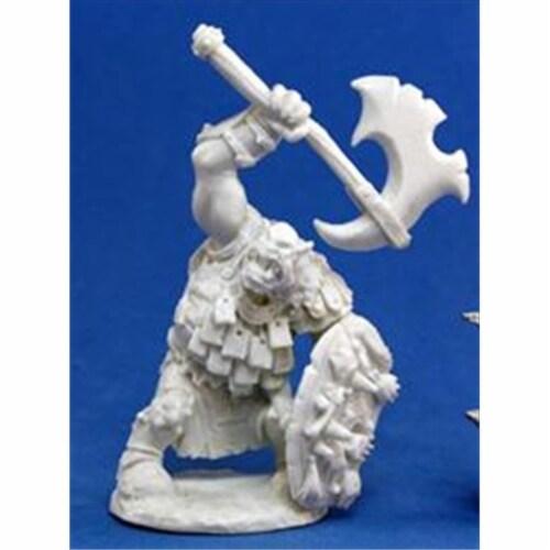 Reaper Miniatures 77064 Bones - Kavorgh, Orc Warboss Perspective: front