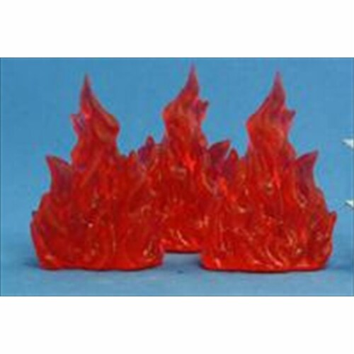 Reaper Miniatures 77080 Bonest50 - Wall Of Fire Set Of 3 Perspective: front