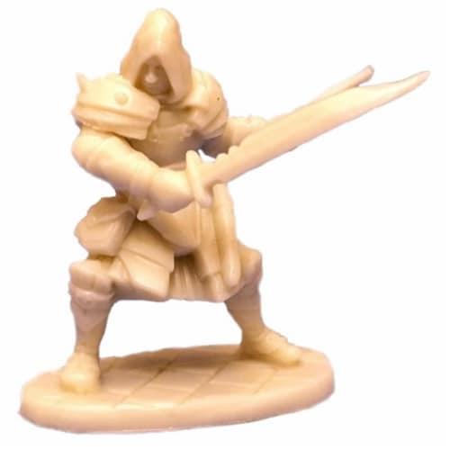 Reaper Miniatures REM77093 Bones-Drago Voss, Male Assassin Perspective: front