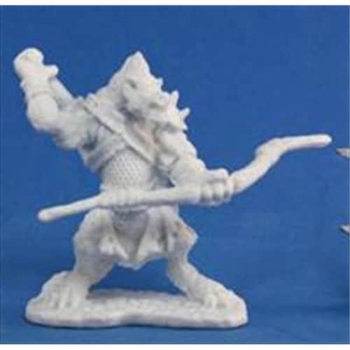Reaper Miniatures 77104 Bones - Blacktongue, Gnoll Archer Perspective: front