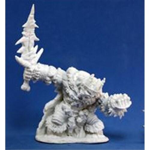 Reaper Miniatures 77106 Bones - Boerogg Blackrime Frost Giant Jarl Perspective: front