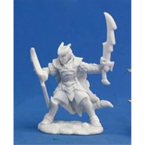 Reaper Miniatures 77120 Bones - Vaeloth, Helborn Paladin Perspective: front