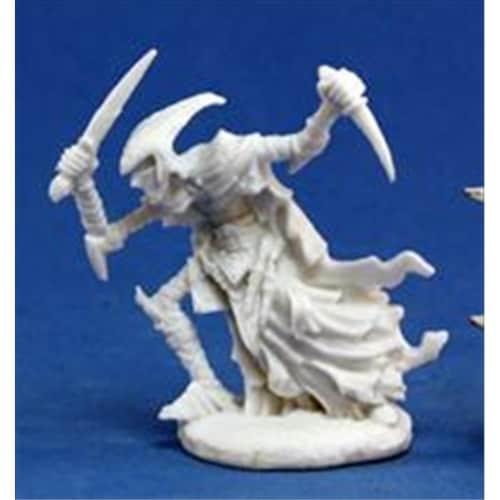 Reaper Miniatures 77123 Bones - Zalash, Dark Elf Assassin Perspective: front