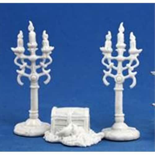 Reaper Miniatures 77138 Bones - Treasure & Candleabra Perspective: front