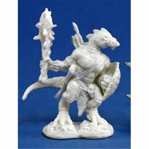 Reaper Miniatures 77155 Bones - Lizardman Warrior Perspective: front