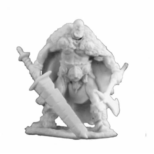Reaper Miniatures REM77199 Bones-Thund Bloodwrack, Barbarian Perspective: front