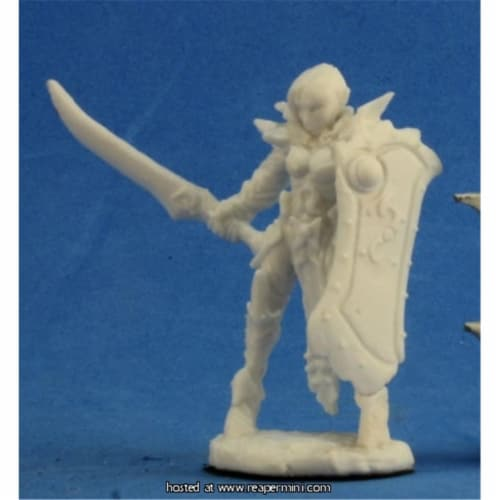 Reaper Miniatures REM77204 25mm Scale Cassiata, Female Anti-Paladin - Bones Perspective: front