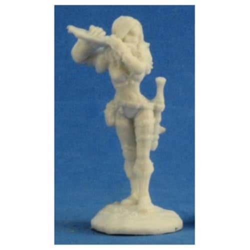 Reaper Miniatures REM77208 Bones-Anwyn, Female Bard Perspective: front