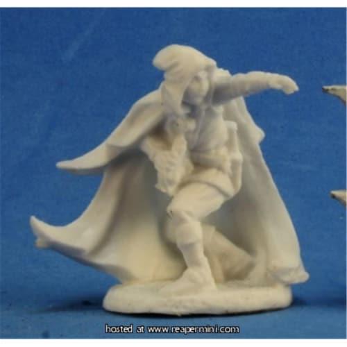 Reaper Miniatures REM77209 25mm Scale Arran Rabin, Wizard - Bones Perspective: front