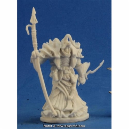 Reaper Miniatures REM77215 25mm Scale Eregris Darkfathom Sea Priest - Bones Perspective: front