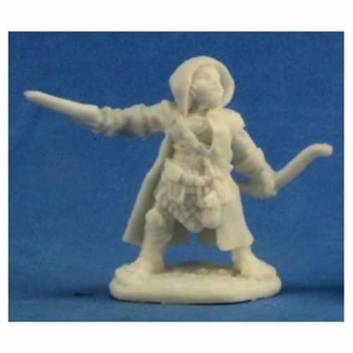 Reaper Miniatures REM77218 Bones-Woody, Halfling Ranger Perspective: front