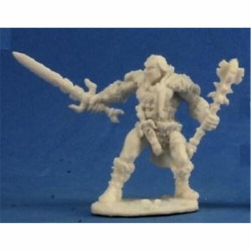 Reaper Miniatures REM77219 Bones-Grundor Hoardtaker, Barbarian Perspective: front