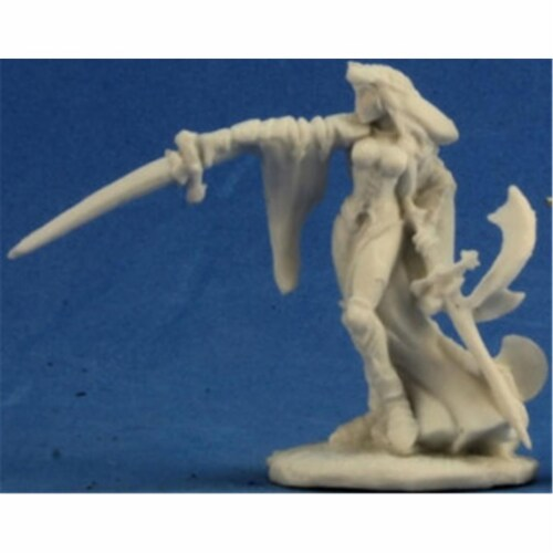 Reaper Miniatures REM77223 Bones-Kristiana, Female Paladin Perspective: front
