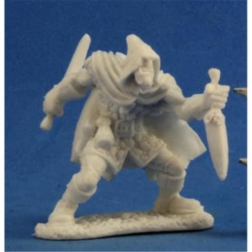 Reaper Miniatures REM77224 Bones-Rogan, Half Orc Assassin Perspective: front