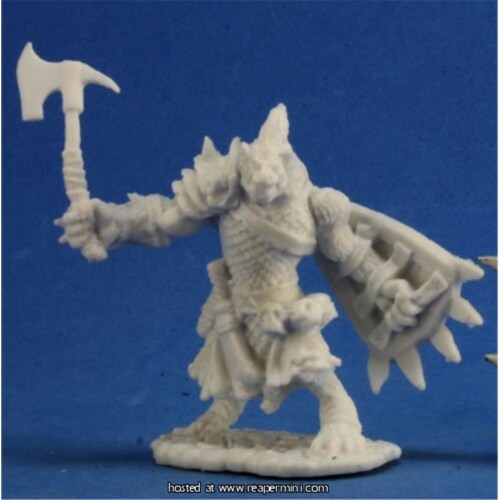 Reaper Miniatures REM77236 25mm Scale Bloodmane, Gnoll Warrior - Tre Manor Perspective: front