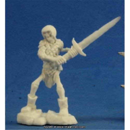 Reaper Miniatures REM77238 25mm Skeleton Guardian with Two Hand Sword - Bob Ridolfi Perspective: front
