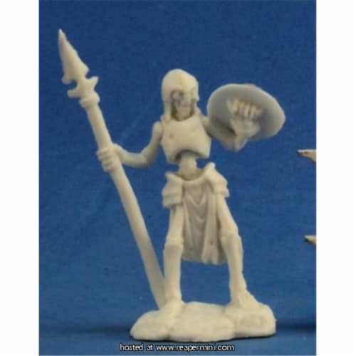 Reaper Miniatures REM77239 25mm Scale Skeleton Guardian Spearman, Bob Ridolfi - Pack of 3 Perspective: front