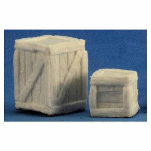 Reaper Miniatures REM77248 Bones Large Crate & Small Crate Miniature Perspective: front