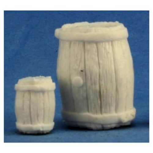 Reaper REM77249 Bones Large Barrel & Small Barrel Miniature Figures Perspective: front