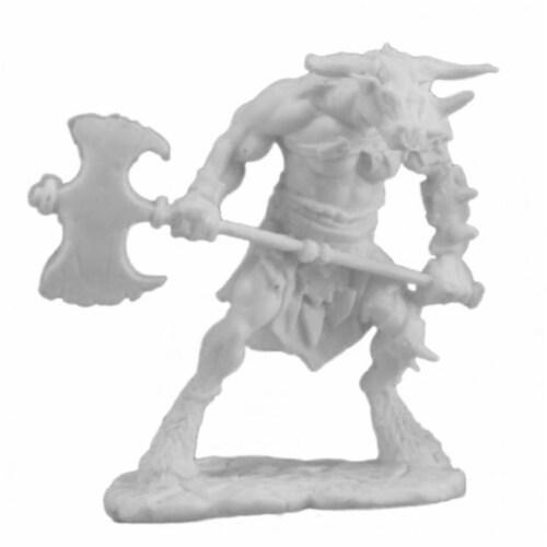 Reaper Miniatures REM77251 Bones Bloodhoof, Minotaur Barbarian Miniatures Perspective: front