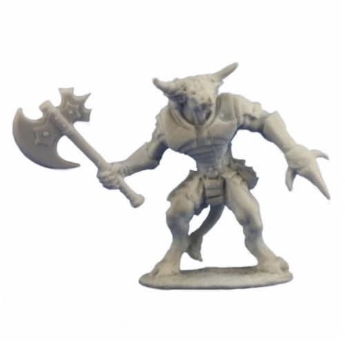 Reaper REM77255 Bronzeheart Minotaur Hero Bones Miniature Figures Perspective: front