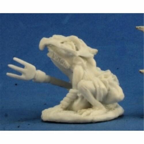 Reaper Miniatures REM77269 Bones-Mudcroak, Squog Shaman Perspective: front