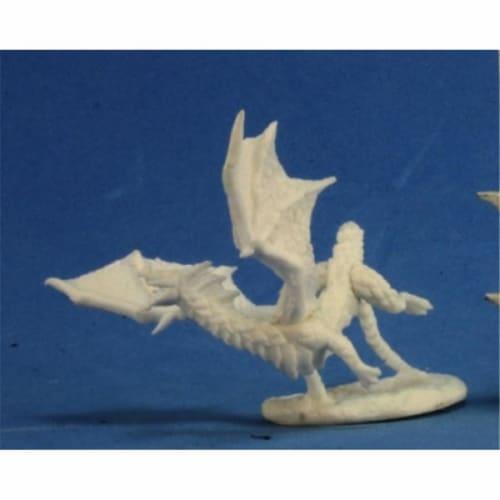 Reaper Miniatures REM77273 Bones-Dragon Hatchling, Black Perspective: front