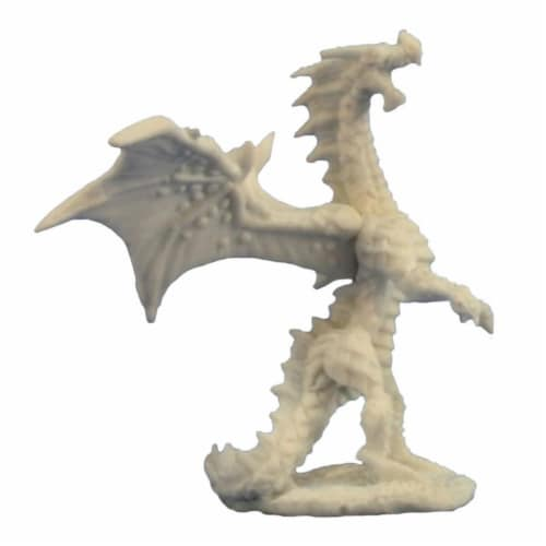 Reaper Miniatures REM77274 Bones Dragon Hatchling Red Miniature Perspective: front