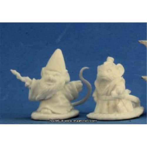 Reaper Miniatures REM77288 25mm Scale Mousling Sorcerer & Samurai - Gene Van Horne Perspective: front
