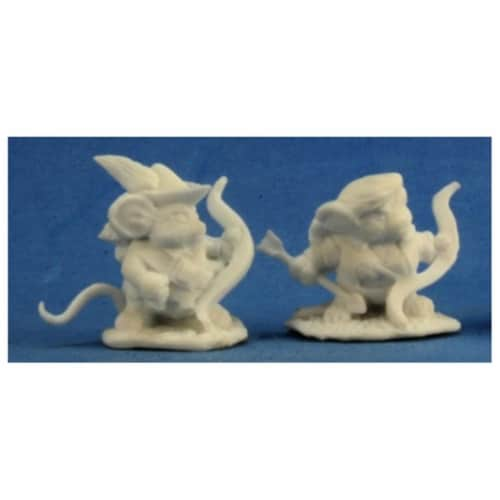 Reaper REM77289 Bones Mousling Ranger & Yeoman Miniature Figures Perspective: front