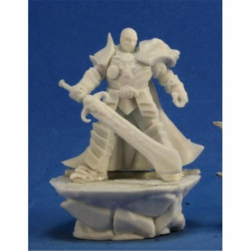 Reaper Miniatures REM77300 Bones Male Antipaladin Perspective: front