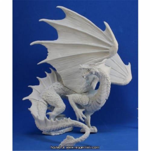 Reaper Miniatures REM77323 25mm Scale Blightfang, Forest Dragon - Bones Perspective: front