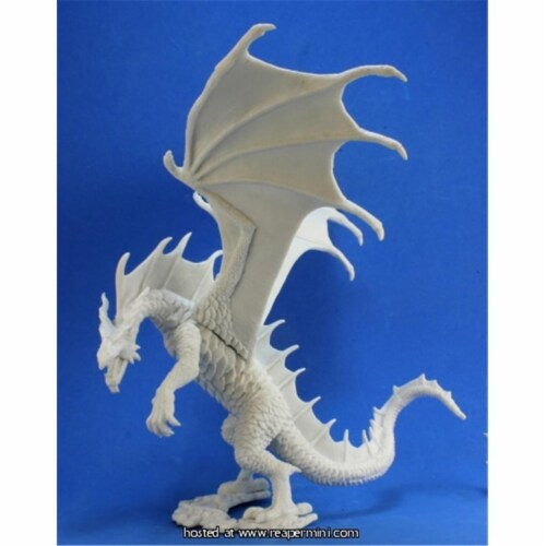 Reaper Miniatures REM77328 25mm Scale Cinder, Fire Dragon - Sandra Garrity Perspective: front