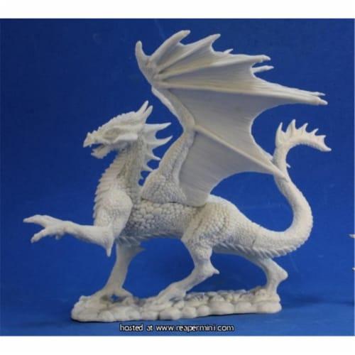 Reaper Miniatures REM77329 Bones Silver Dragon Perspective: front