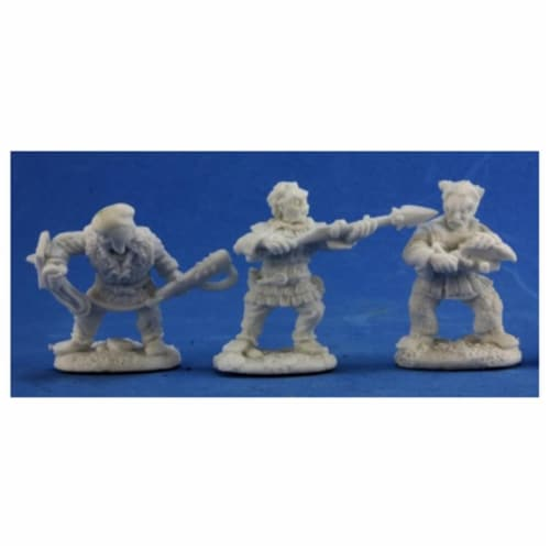 Reaper REM77332 Bones Derro Warriors Figure - 3 Count Perspective: front