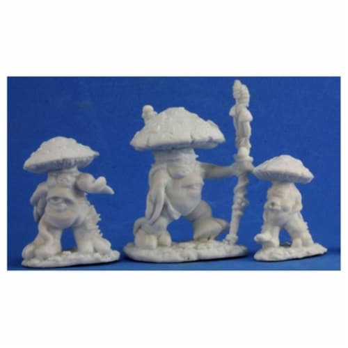 Reaper REM77345 Mushroom Men Bones Miniature - 3 Count Perspective: front