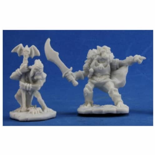 Reaper REM77349 Bones Goblin Command Miniature - 2 Count Perspective: front